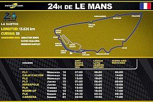 Horarios para Latinoamérica de las 24h de Le Mans 2021