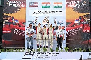 Sentul F4: Gowda wins Race 2, Nalwalla claims two podium finishes