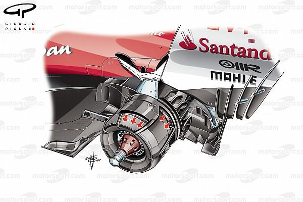 Ferrari: il cestello posteriore sfogava l'aria calda verso l'esterno