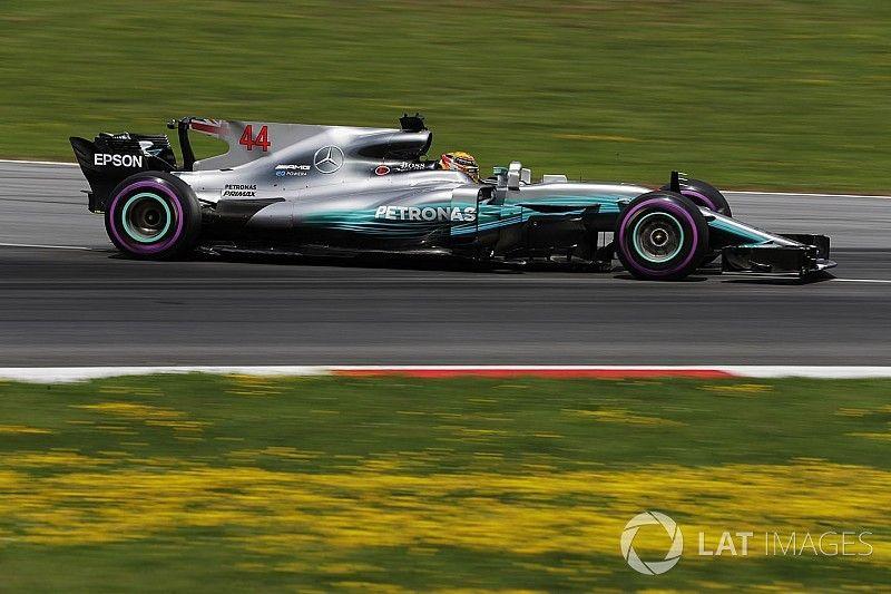 Hamilton was het snelst tijdens de GP van Oostenrijk
