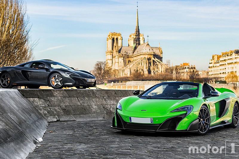 Photos - Deux McLaren très spéciales se retrouvent à Paris