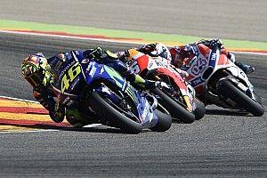 """Valentino Rossi ve superioridad de Honda y Ducati a """"final de las carreras"""""""