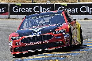 """Bowyer finishes second despite """"tearing the hell out of my car"""""""