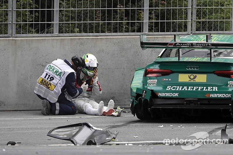 """Mike Rockenfeller nach DTM-Crash: """"Mir tut alles ein bisschen weh"""""""