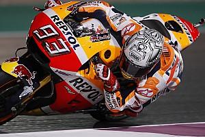 MotoGP Отчет о тренировке Маркес упал на разминке в Катаре, но показал лучшее время