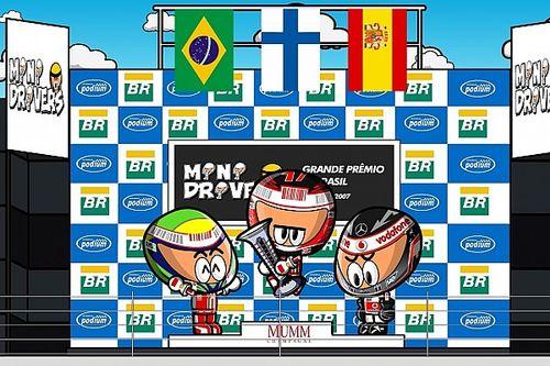 Vídeo: Raikkonen, campeón en Brasil ante Hamilton-Alonso (por MiniDrivers)