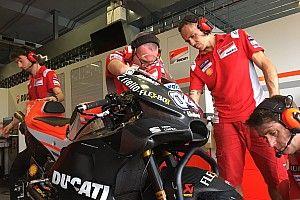دوفيزيوزو يجد صعوبة في اختيار الجنيّحات الانسيابية الملائمة لدراجة دوكاتي