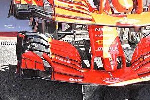 Ferrari: ecco la nuova ala anteriore sulla SF71H che è basata anche su vecchie soluzioni