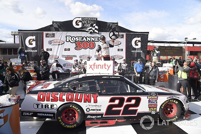 Joey Logano dominates NASCAR Xfinity Series race at Fontana
