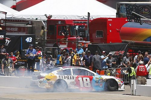 "Kyle Busch's day ends in a ""fireball"" at Michigan"