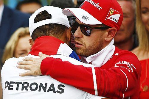 """Sebastian Vettel: Lewis Hamilton war 2017 """"der bessere Mann"""""""