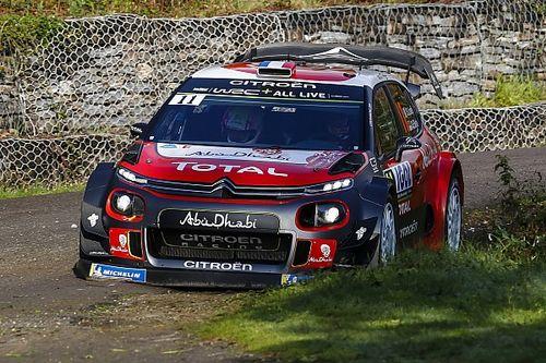 Loeb chocó en el inicio en Córcega