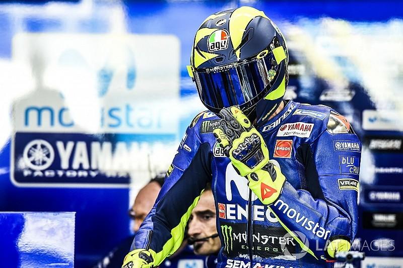 Rossi, du gravier à la première ligne en qualifs