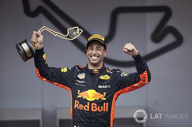 Ricciardo opent jacht op WK-leiders na zege in Monaco