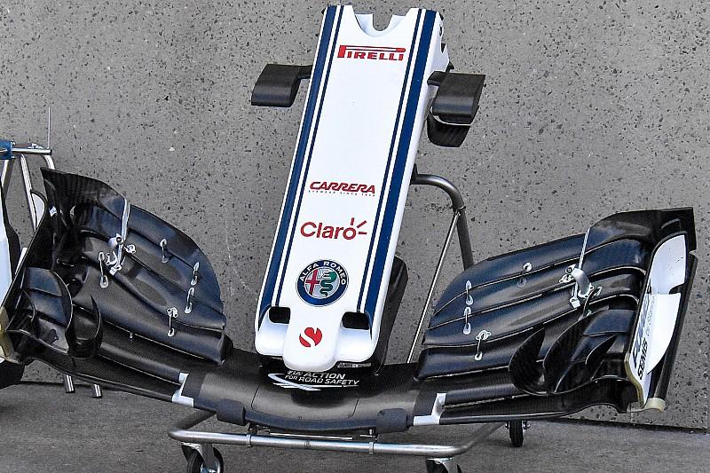 Sauber: l'ala anteriore scarica rende Leclerc veloce sui rettilinei di Montreal