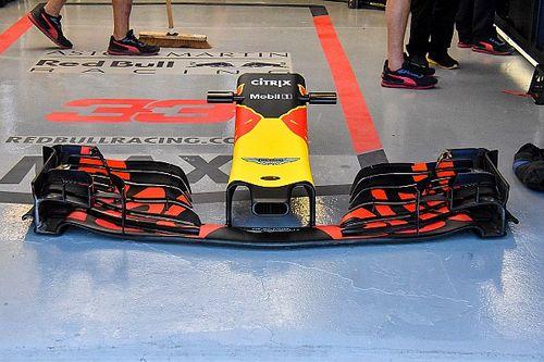 Red Bull: per cercare le velocità è molto scarica anche l'ala anteriore della RB14