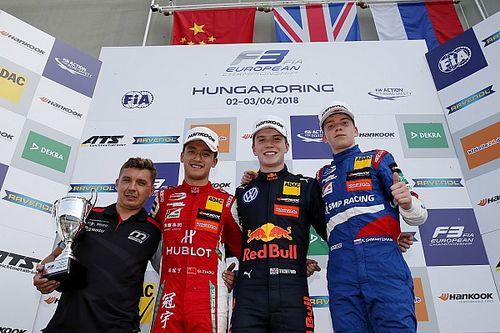 Шварцман впервые поднялся на подиум в европейской Формуле 3