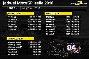 Jadwal lengkap MotoGP Italia 2018
