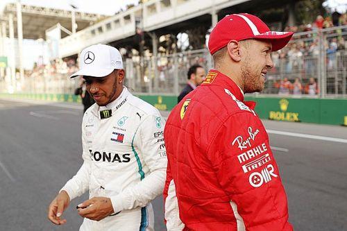 """Vettel: """"Hamilton in Ferrari? Non ho veti, ma io sono contento con Kimi"""""""