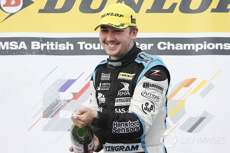 Silverstone BTCC: Ingram wins red-flagged opening race