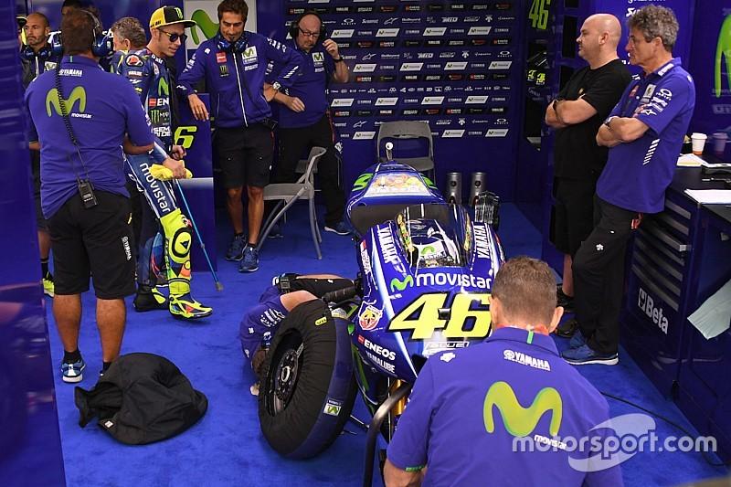 Rossi sale a probarse en el primer libre bajo la lluvia