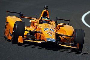 Indy 500 2017: Fernando Alonso im Rookie-Training an der Spitze