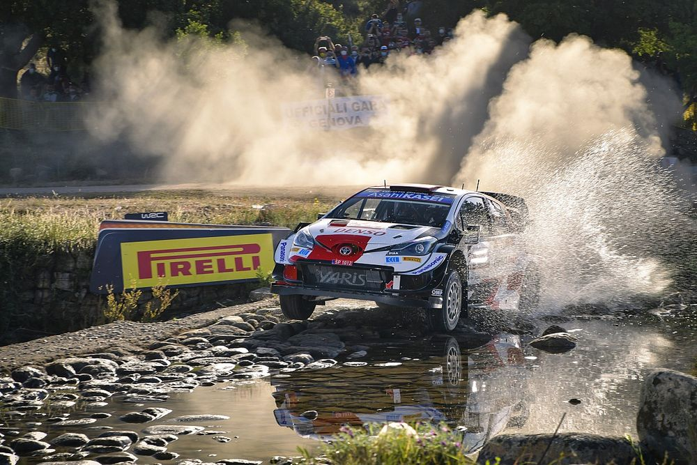 Italy WRC: Ogier grabs lead as Tanak retires after hitting rock