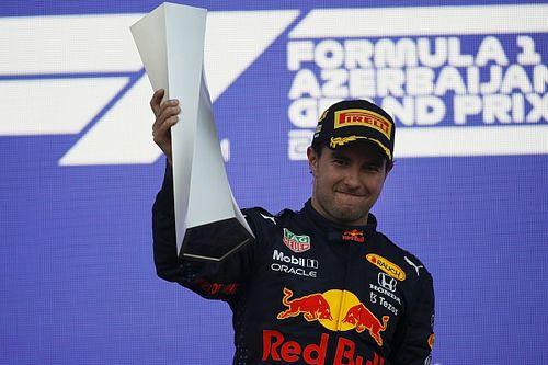 Perez wacht nare verrassing na overwinning in Baku