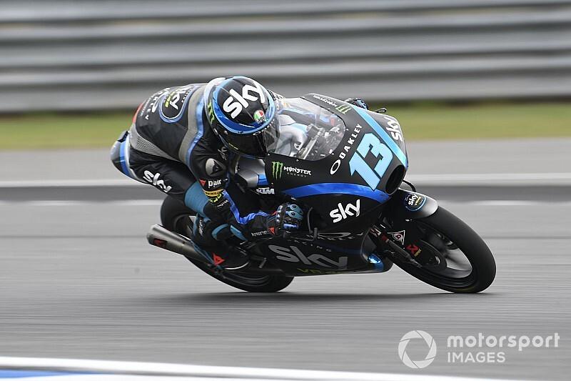Moto3, Buriram: prima pole iridata per Celestino Vietti