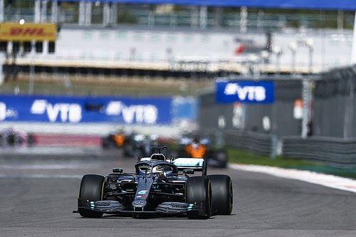 """En pneus mediums, Hamilton a enchaîné les """"tours de qualification"""""""
