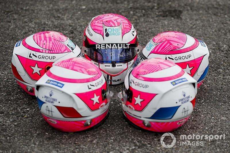 Pilotos da Academia Renault usarão capacetes com desenho de Hubert