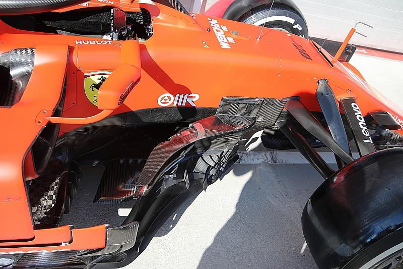 Технический брифинг: Ferrari дополнила боковые дефлекторы «бумерангами»