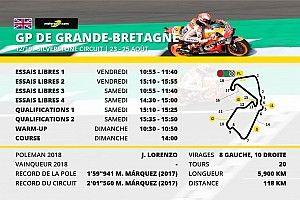 Le programme du Grand Prix de Grande-Bretagne
