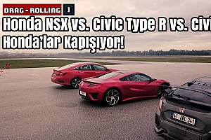 Honda NSX vs. Civic Type R vs. Civic RS | Honda'lar Kapışıyor