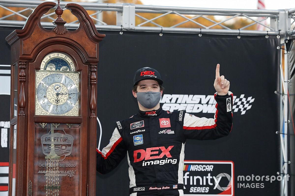 Harrison Burton holds off Allgaier for Martinsville Xfinity win