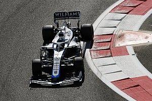 Williams stuurt FW43B voor eerste meters rond over Silverstone