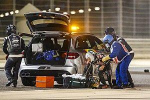 Fotos de la F1 en Bahrein: incendio, vuelco y mucho más