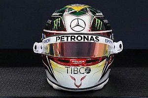 GALERÍA: el casco de Hamilton para el GP de Brasil