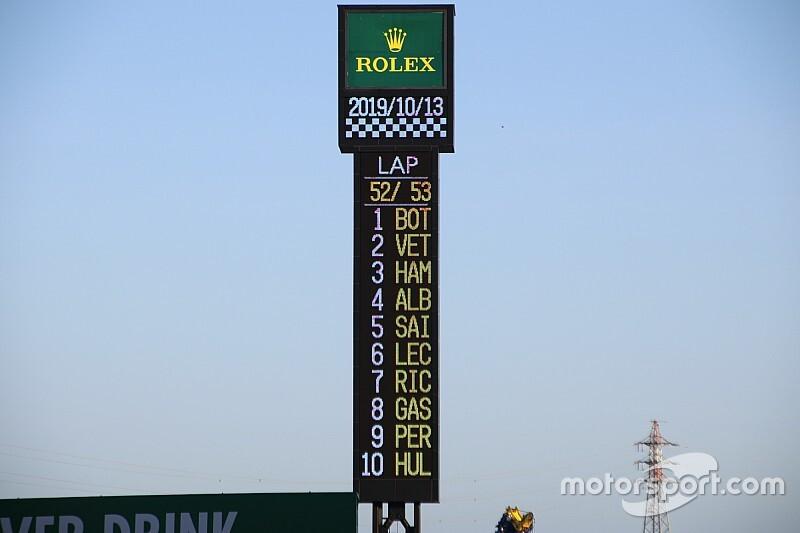 Una falla con la bandera a cuadros altera el top 10 del GP de Japón