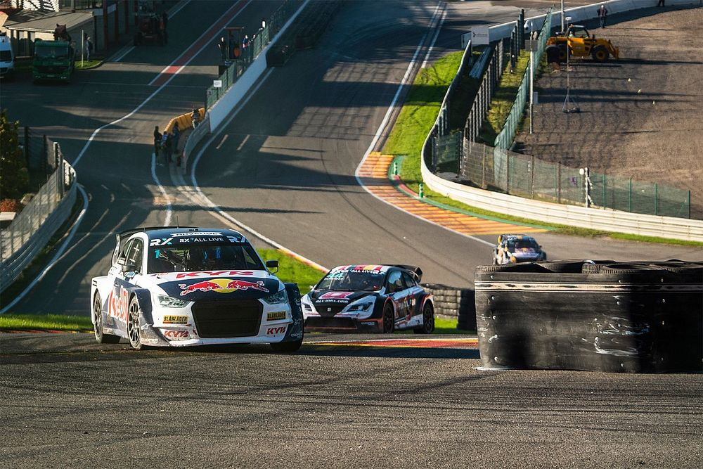 Spa WRX: Kristoffersson leads opening day after surviving contact