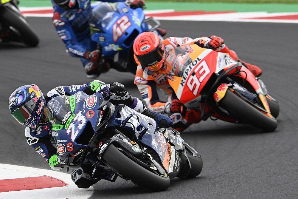 """マルケス、苦しい""""右回り""""サンマリノの4位に満足げ「予想していなかった結果。まともなレースができた」"""