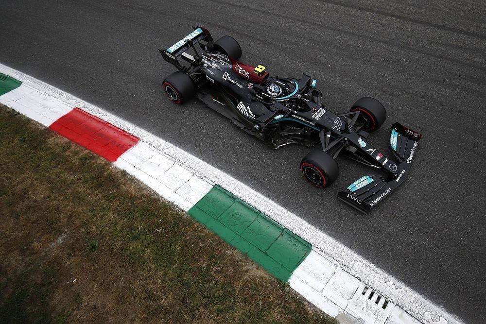 意大利大奖赛排位赛:博塔斯击败汉密尔顿,助梅赛德斯包揽冲刺赛头排