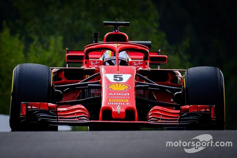 Vettel snelste in laatste training Spa, P5 Verstappen, Vandoorne crasht