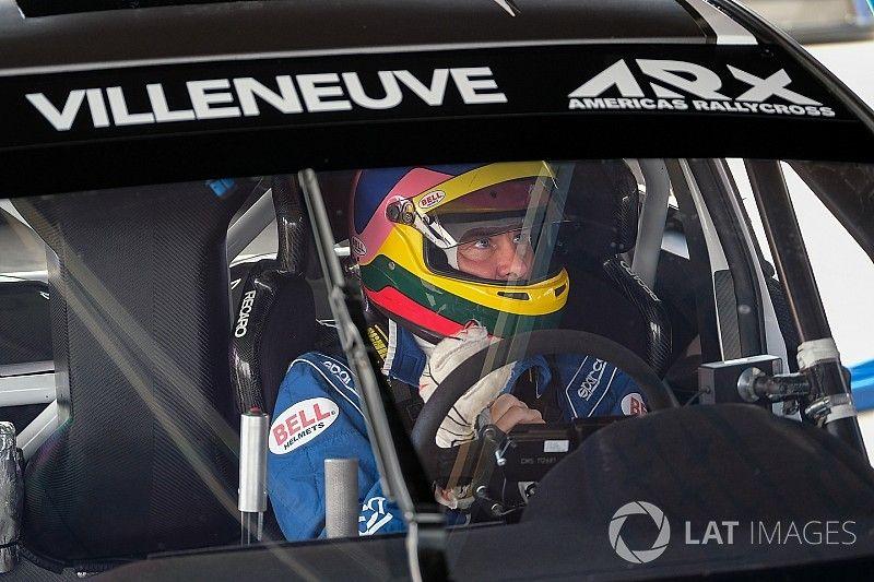 Jacques Villeneuve tests his ARX Rallycross Subaru
