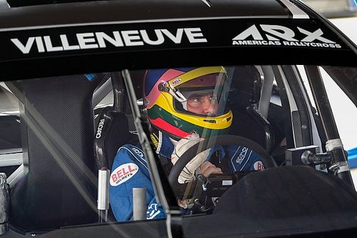 Jacques Villeneuve tests his ARX Rallycross Subaru