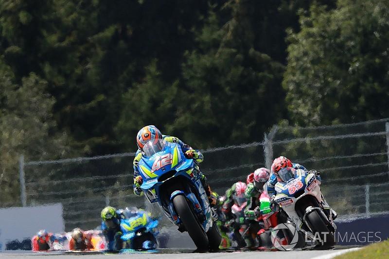 Trajectoires croisées pour les pilotes Suzuki en course