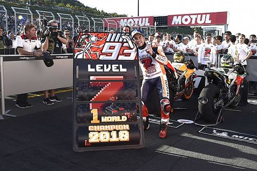 GALERI: Uniknya selebrasi juara dunia Marc Marquez