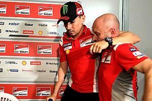 """Lorenzo: """"Le possibilità di tornare in sella domani non sono molto alte"""""""