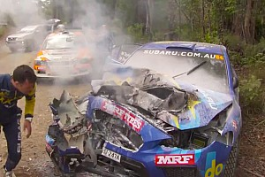 Molly Taylor escapes nasty Rally Australia crash