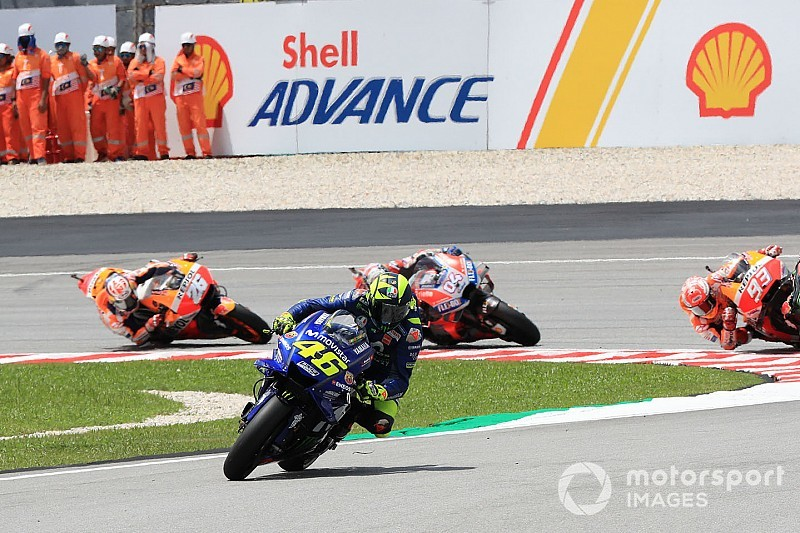 "Rossi ""devastated"" to end victory bid with crash"